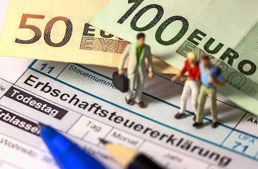 Mehr als jeder dritte Erwachsene in Deutschland hat schon einmal geerbt. Erbschaftsteuerpflichtig sind laut einer Studie nur 14 Prozent der Erben. Foto: dpa-Zentralbild