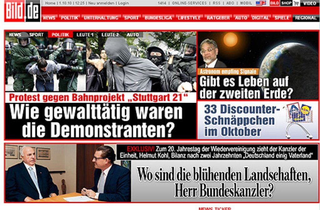 Die presseschau zu s21 zeit online welt for Spiegel nachrichten heute