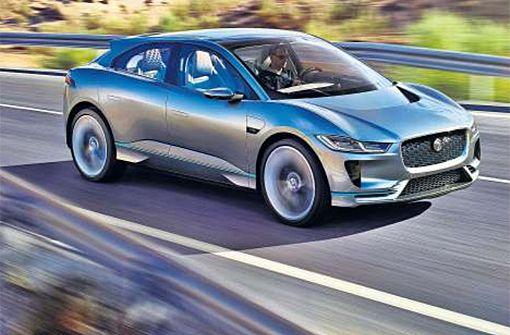 400 PS, 500 km Reichweite, 700 Nm Drehmoment – alles elektrisch: Auf den neuen I-Pace, der ab 2018 verkauft wird, setzt Jaguar Land Rover große Hoffnungen. Foto: Hersteller