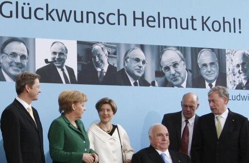 Festakt für Alt-Kanzler Kohl