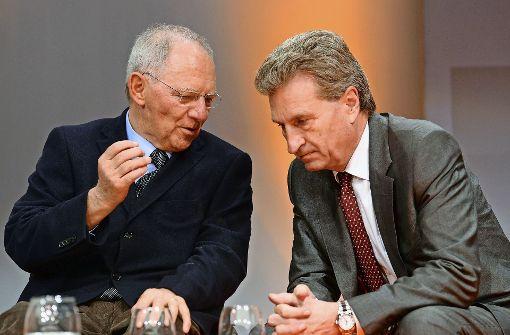 Oettinger will Schäuble als Bundestagspräsident