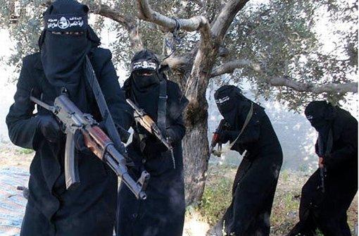 IS-Kämpfer in Syrien Foto: dpa