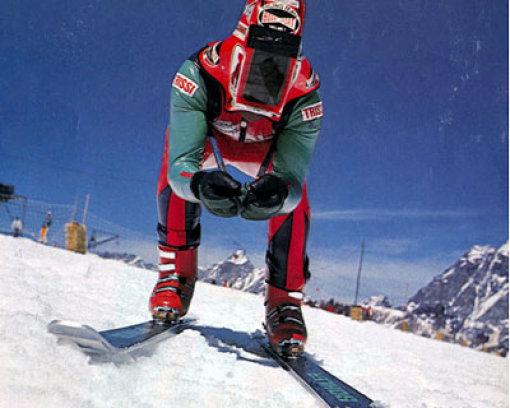 Der Schwabenpfeil auf Skiern