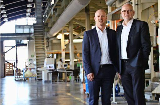 Sven Schneller und Thomas Baumgärtner führen die Geschäfte bei Herma. Foto: Rüdiger Ott