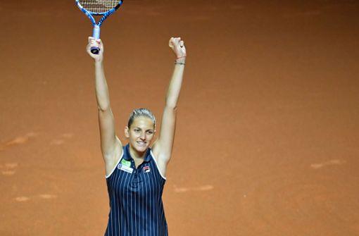 Karolina Pliskova gewinnt in der Porsche-Arena