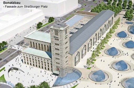 So soll der Bonatzbau künftig aussehen. Foto: Ingenhoven Architects/ Bahn AG