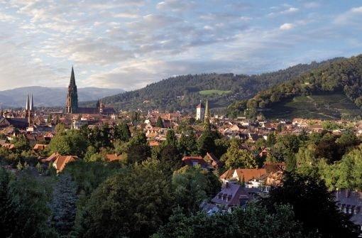 Blick auf die selbst ernannte Umwelthauptstadt Freiburg Foto: Siedlungswerk