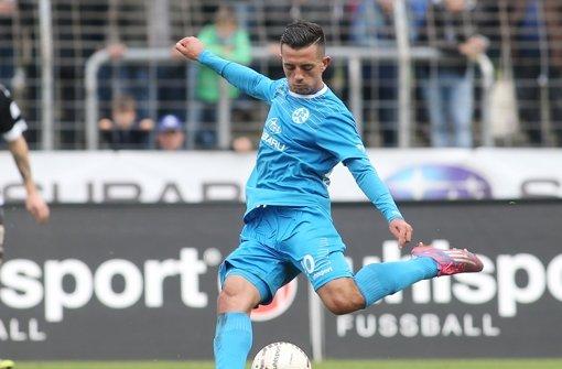 Besar Halimi  von Fußball-Drittligist Stuttgarter Kickers Foto: Pressefoto Baumann