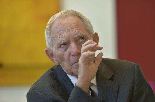 Schäuble fordert neue Schritte für Europa