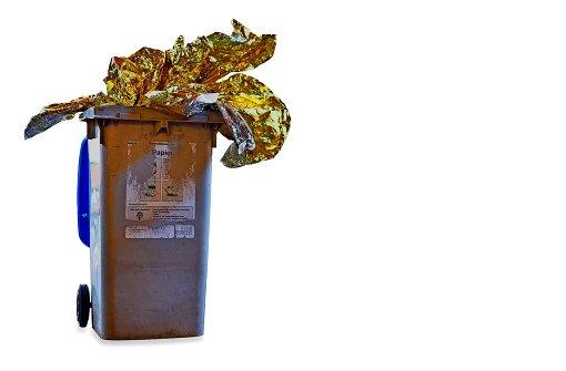 Die Mülltonne  als Goldgrube Foto: dpa
