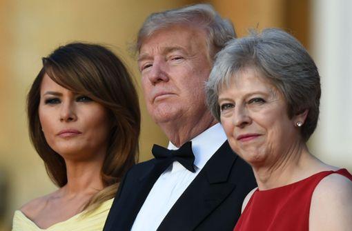 US-Präsident fällt Theresa May in den Rücken
