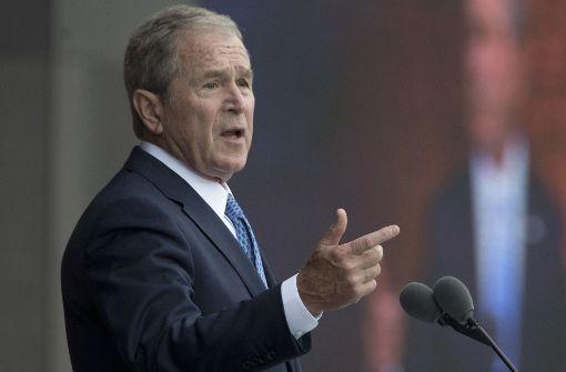 Ex-Präsident Bush verteidigt die Medien