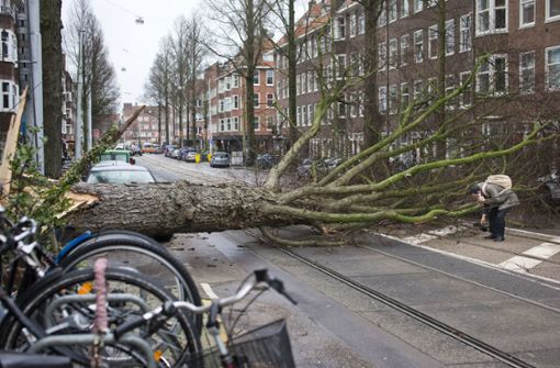 Orkan tötet in Westeuropa mindestens drei Menschen