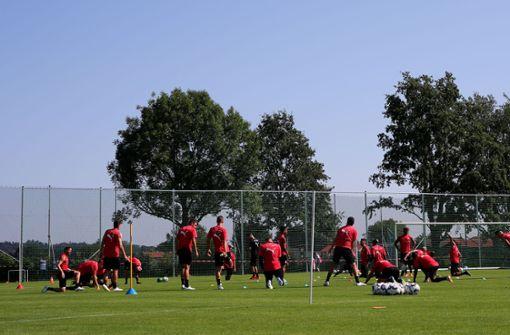 Der VfB Stuttgart ist zum Sommertrainingslager in Grassau im Chiemgau. Hier wird acht Tage lang geschwitzt. Foto: Pressefoto Baumann