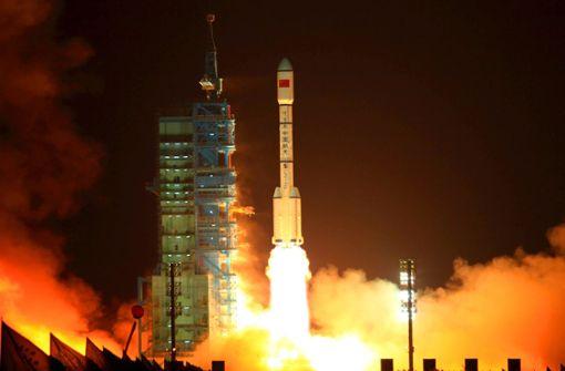 "China hatte ""Tiangong 1"" im Jahr 2011 ins All geschossen (Archivbild). Foto: AFP"
