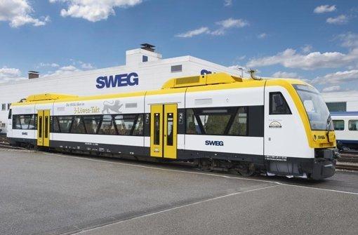 """Auf der Strecke Gäu-Mutrr verkehren ab Ende 2017 Züge in einheitlichem Landesdesign Foto: """"SWEG/Guido Gegg"""""""