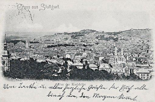1902 - Blick von der Karlshöhe, die bis ins Jahr 1889 noch Reinsburghügel hieß Foto: Kartensammlung von Wibke Wieczorek