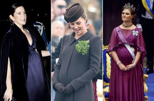 Prinzessinnen mit Babybauch