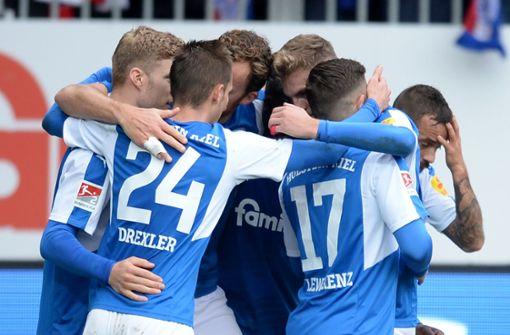 Sollte Holstein Kiel in die Bundesliga aufsteigen, dürfen sie in ihrem eigenen Stadion spielen. Foto: dpa
