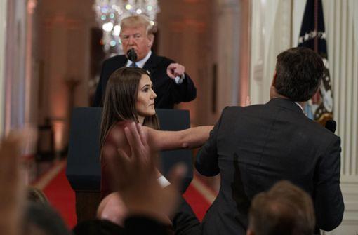 """US-Präsident bezeichnet CNN-Reporter als """"Feind des Volkes"""""""