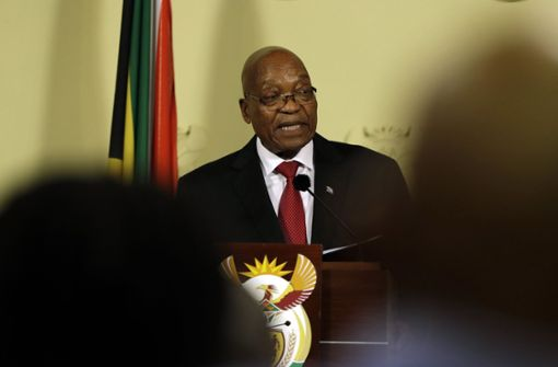 Südafrikas Präsident Zuma hat sein Amt mit sofortiger Wirkung niedergelegt Foto: AP