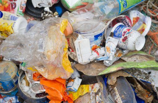 Den Müll einfach im Laden lassen