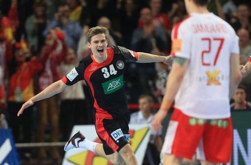 Das deutsche Team gewann  im polnischen Breslau zum Abschluss der Hauptrunde gegen Dänemark. Foto: dpa