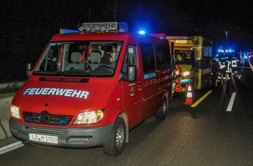 Die Freiwilligen Feuerwehren Münchingen und Möglingen waren mit insgesamt 22 Einsatzkräften und vier Fahrzeugen vor Ort. Foto: SDMG