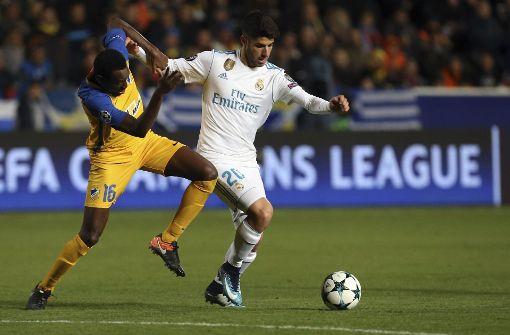 Marco Asensio zeichnet sich aus durch seine Qualitäten am Ball. Er ist mit 21 Jahren schon fester Bestandteil des Kaders von Real Madrid. Foto: AP