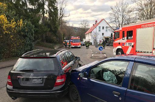 In Stuttgart-Heumaden ist es am Montag zu einem Verkehrsunfall gekommen. Foto: 7aktuell.de/Alexander Hald