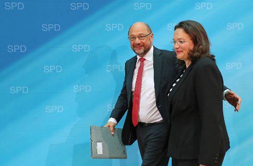 Schulz ruft Nahles zur Fraktionschefin aus