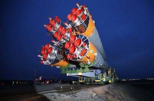 Sojus-Trägerrakete auf dem Weg ins All