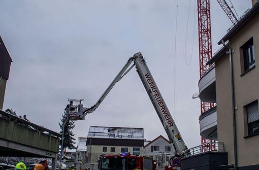 Der Notfall ereignet sich in 40 Metern Höhe. Foto: SDMG