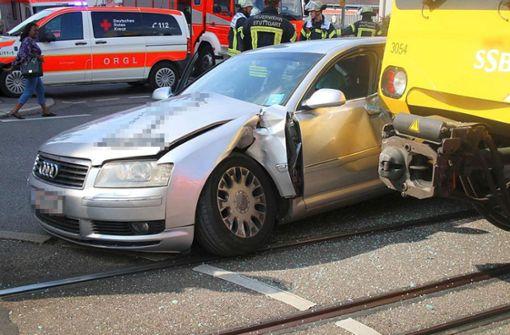 ... stieß mit einer Stadtbahn zusammen. Foto: 7aktuell.de/ Pusch
