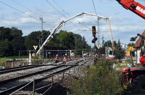 Strecke bis voraussichtlich 7. Oktober gesperrt
