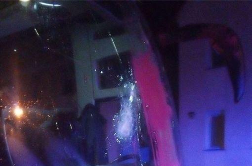 AfD-Bus mit Farbbeuteln und Steinen beworfen