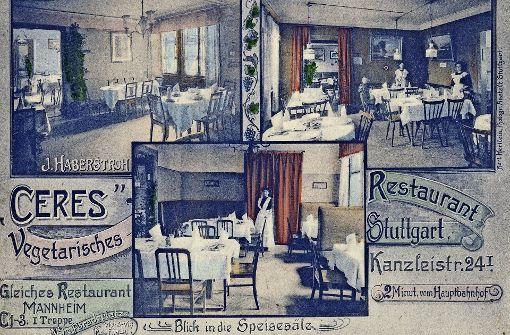 Restaurant für Vegetarier  bereits in den 1920er Jahren