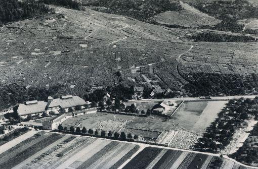 Freibadgelände und Alte Kelter aus dem Jahr 1954. Foto: Archiv