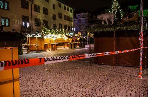 Der Zwischenfall ereignete sich am Sonntagabend auf dem Weihnachtsmarkt in Stuttgart. Foto: SDMG