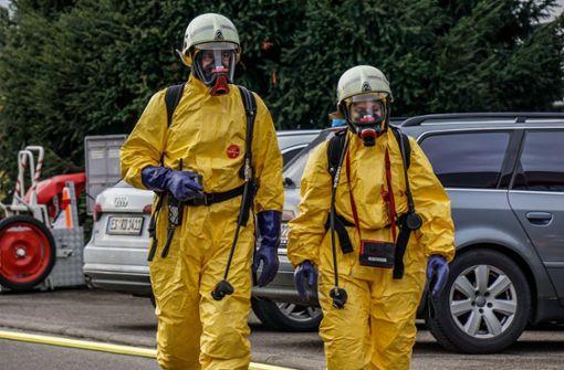 Firmengebäude in Köngen nach chemischer Reaktion evakuiert
