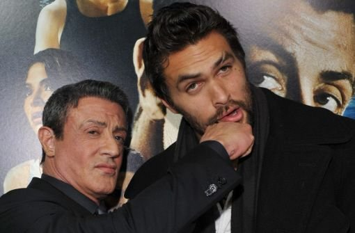 Sylvester Stallone (links) und Jason Momoa Foto: dpa