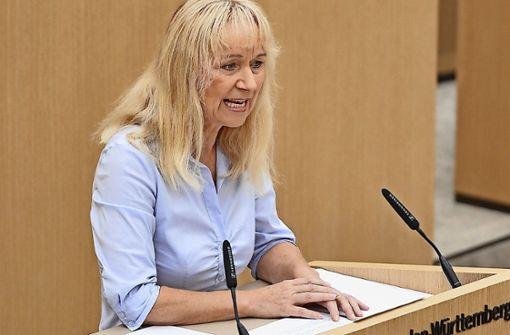 Die Landtagsabgeordnete Christina Baum  beschäftige einen Mitarbeiter, dem Hetze gegen Ausländer vorgeworfen wird. Foto: dpa