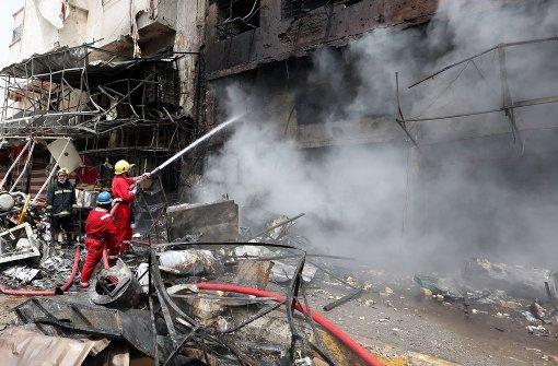 Im Osten von Bagdad ist eine Autobombe explodiert Foto: EPA