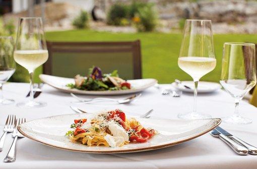 Food-Pairing – alle Weinproben werden von einem Menü umrahmt.  Foto: Panoramahotel Oberjoch