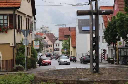 Blick vom Satyr-Kreisel den Hügel hinunter in die Vordere Straße. Foto: Patricia Sigerist