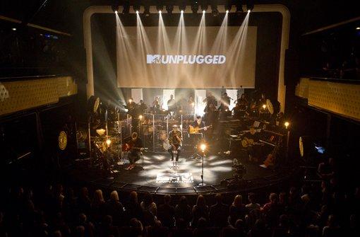 Vor 300 Zuschauern schlägt Cro für MTV Unplugged ruhige Töne an Foto: Delia Baum