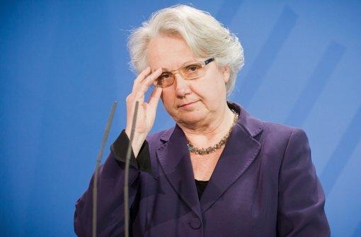 Soll für Deutschland in den Vatikan: Annette Schavan. Foto: dpa