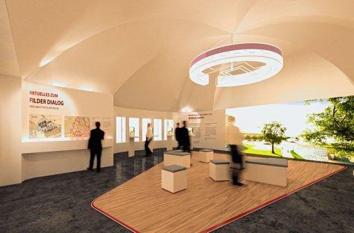 Die neue Ausstellung im Bahnhofsturm soll multimedial und interaktiv sein. Foto: Visualisierung: Macom/Heller