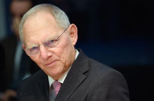 Bundestagspräsident Wolfgang Schäuble Foto: dpa