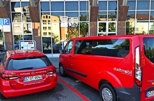 Zwei neue Car-Sharing-Stellplätze Plätze am Wilhelmsplatz Foto: Haar